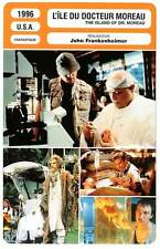 FICHE CINEMA : L'ILE DU DOCTEUR MOREAU Brando,Kilmer1996 The Island of Dr.Moreau