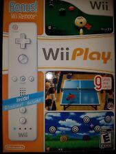 Nintendo Wii Play Bundle w/ Bonus Remote Controller |BRAND NEW FACTORY SEALED