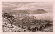 "Great 1800s  J L W PAGE Antique Etching ""Exmoor from the Quantocks"" FRAMED COA"