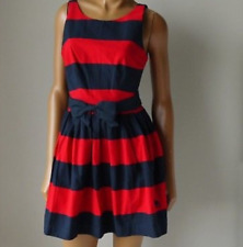 NEW Abercrombie & Fitch Women's Morgan Style A-Line Red Striped Dress Size 2