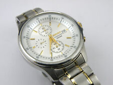 Mens Seiko 7T92-0NY0 Two Tone Sports Chrono Watch - 100m