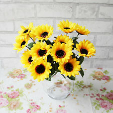 1 Bouquet 7 Heads Artifical Fake Sunflower Wedding Floral Posy Party Home Decor