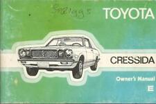 TOYOTA CRESSIDA OWNER´S Manual 1977 Handbook Betriebsanleitung  BA