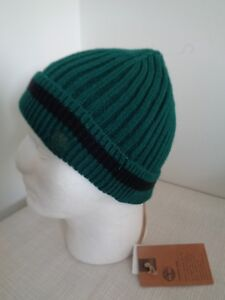 BNWT Timberland Dark Green Acrylic Rib Knit Beanie Hat