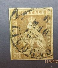 Italy16,Italy stamp,Tuscany Scott 4a, F-VF used, Cat. $180.00