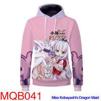 Miss Kobayashi's Dragon Maid Cosplay Hoodie Sweatshirt Coat Jacket Sportswear