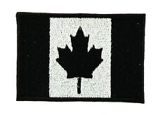 Parche bandera PATCH bordado termoadhesivo NEGRO CAMO SMall Canadá canadiense