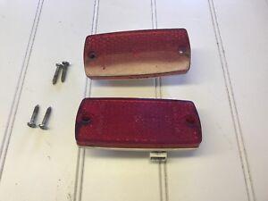Bmw e28 528e 535i 535is Rear Red Side Marker Lights Oem Bmw