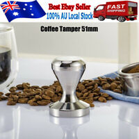 51MM COFFEE TAMPER Polished Stainless Steel Tampa Tamp Espresso Barista AU Stock