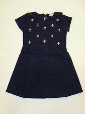 NWT Girls J. Crew Crewcuts Navy Jeweled Cluster Stone Swingy Knit Dress 5 NEW