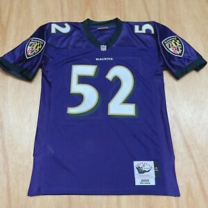 100% Authentic Ray Lewis Mitchell & Ness 2000 Ravens Jersey Size 44 L Mens