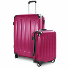 Berwin Kofferset 2-teilig M+XL Hartschalen Reisetrolley Stripes 4 Rollen Pink