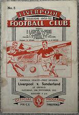 More details for liverpool v sunderland 1951/52