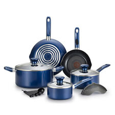 T-Fal Excite Pro Glide Nonstick Thermo Spot Dishwasher Safe Cookware Set, Blue