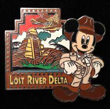 DISNEY PIN - MICKEY MOUSE as Indiana Jones Lost River Delta Tokyo DisneySea