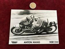 photographie de moto GP de course N 27 anton mang honda NSR 250