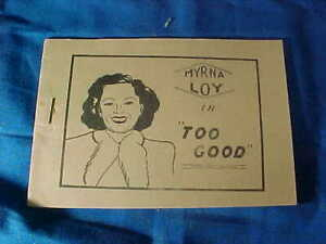 1930s TIJUANA BIBLE 8 Page COMIC Book-Actress MYRNA LOY in TOO GOOD