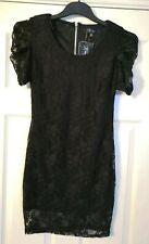 HEAVEN Black Lace Floral Stretchy Party Dress - Size 12 - BNWT