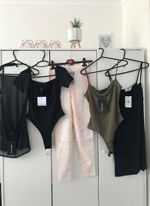 Womans Bundle Size UK 8 Bodysuit, Cover Up, Leggins, Dress, Various Brand. BNWT