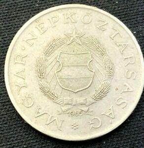 World Coin 1965 Hungary  2 Forint Coin XF      #K944