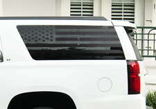 Distressed USA Flag Decals for Rear window 2015-2018 Chevy Suburban Yukon GM5