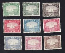Aden 1937 sc#1-9 Dhow, MNH/MH set of 9
