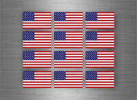 12x autocollant sticker voiture moto scrapbooking drapeau usa etats unis