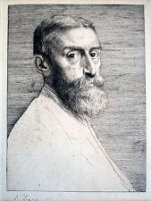 """Sir Edward J. Pynter, Pres. Royal Academy""  Lithograph by Alphonse Legros"