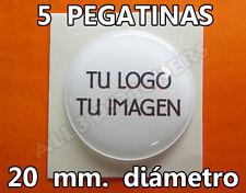 5 x Pegatinas Gota de Resina 20 mm diámetro con tu Logo / Imagen. Adhesivos