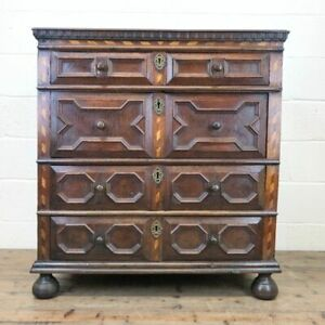 Antique Geometric Oak Chest of Drawers (M-2347) - FREE DELIVERY*