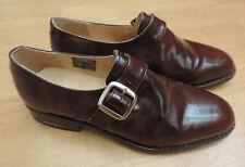 Samuel Windsor Classic Monk Shoe UK 7 Browny Red