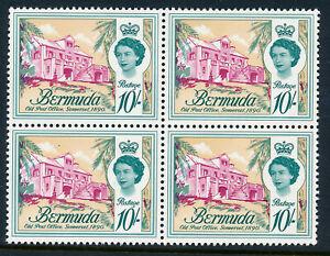 BERMUDA 1962 DEFINITIVES SG178 (10s.) BLOCK OF 4 MNH