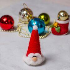 Tree Felt Decor Toy Merino Wool Santa Holidays Decorations Christmas Ornament