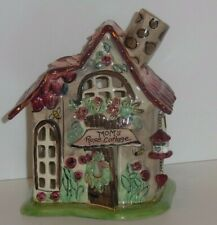 Blue Sky Clayworks Porcelain - Mom's Rose Cottage - Tea Lite Holder - In Box