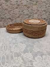 Straw Coasters And Holder