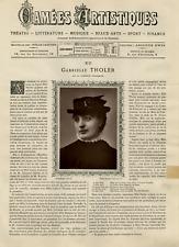 Goupil, France, Camées Artistiques, Gabrielle Tholer vintage print Photoglypti