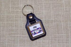 Morris Ital Keyring - Leatherette & chrome keytag