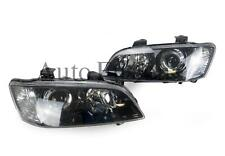 Headlights Pair In Black For Holden Commodore VE Series 1 SSV/CALAIS (2006-2010)