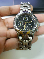 Full Titanium Watch Charle Vogele Aviation Pilot Chronograph Link Classic Analog