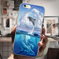 Cloud Dolphin Pattern Phone Cover Case Silicon Cover Soft Skin For Samsung S8 S9