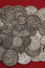 $1fv of 90% SILVER US Mint Coins.All Pre 1965. Mix Of 1/2's, 1/4's Or Dimes