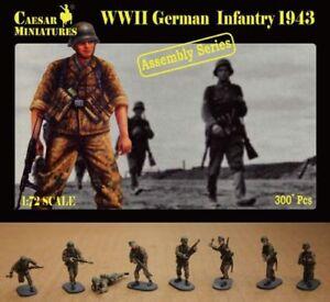Caesar Miniatures 1/72 WWII German Infantry 1943 # 7211