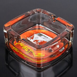 VW T1 Bulli Glas Aschenbecher | Volkswagen Lizenzware | Glasaschenbecher Rot