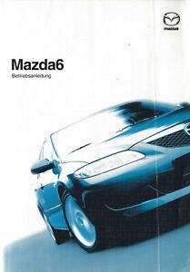 MAZDA  6 Betriebsanleitung 2005 Bedienungsanleitung Handbuch Bordbuch  BA
