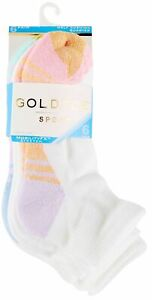 Gold Toe Womens 6-pk. Half Cushion Quarter Socks 9.5-11 White multi