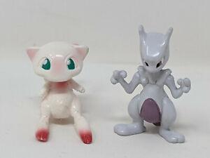 Pokemon Mew + Mewtwo Mini Figure Nintendo CGTSJ Moncolle Vtg Tomy Legendary