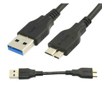 10cm Micro B Male to USB 3.0 Male Data Sync Charging Short Cable For Hard Disk
