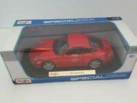 Maisto Special Edition 1:18 Die Cast Red Sports Car PORSCHE 911 CARRERA S