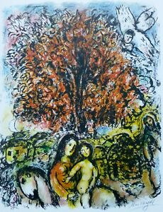 MARC CHAGALL Pace/Columbus 1976 Saint Famille signed LITHOGRAPH Poster