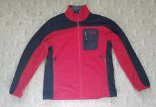 VINTAGE MEN'S MOUNTAIN HARDWEAR FULL ZIP FLEECE JACKET COLOR RED SIZE LARGE L